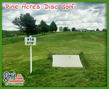pine acres disc golf
